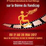 """Visuel pour """"ENTR'2 MARCHES"""" - Festival International du court-métrage sur le handicap"""